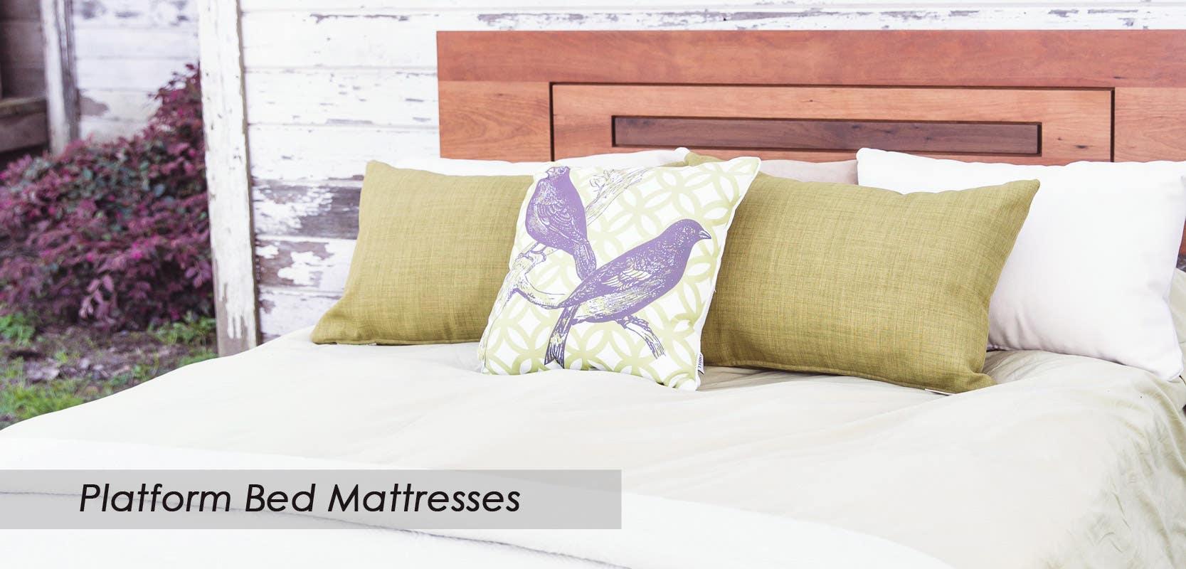 Platform bed mattresses