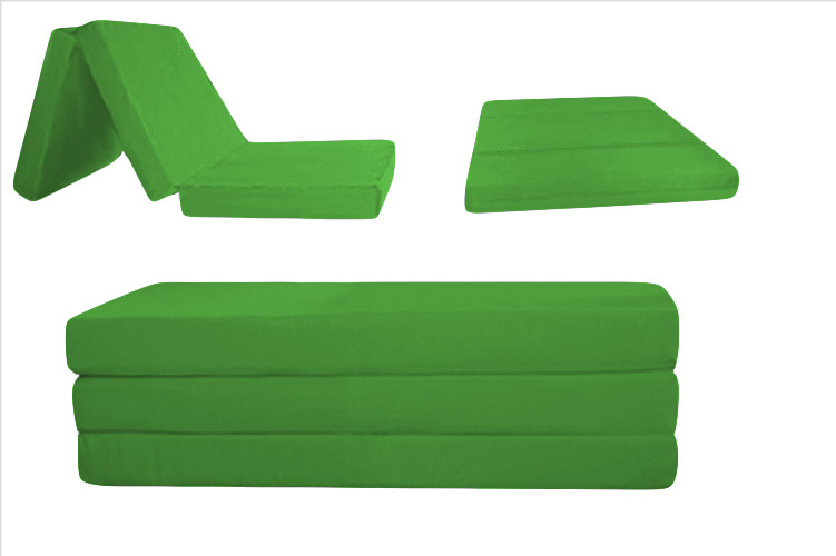 5 Inch Kelly Green Folding Bed