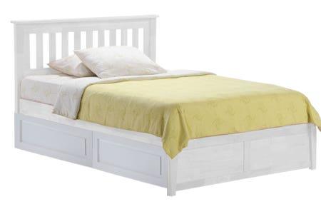 Rosemary Platform Storage Bed Frame White K Series The Futon Shop