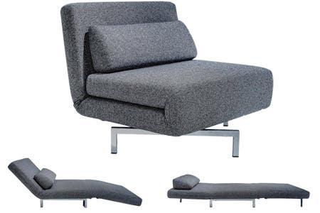 Modern Grey Futon Chair S
