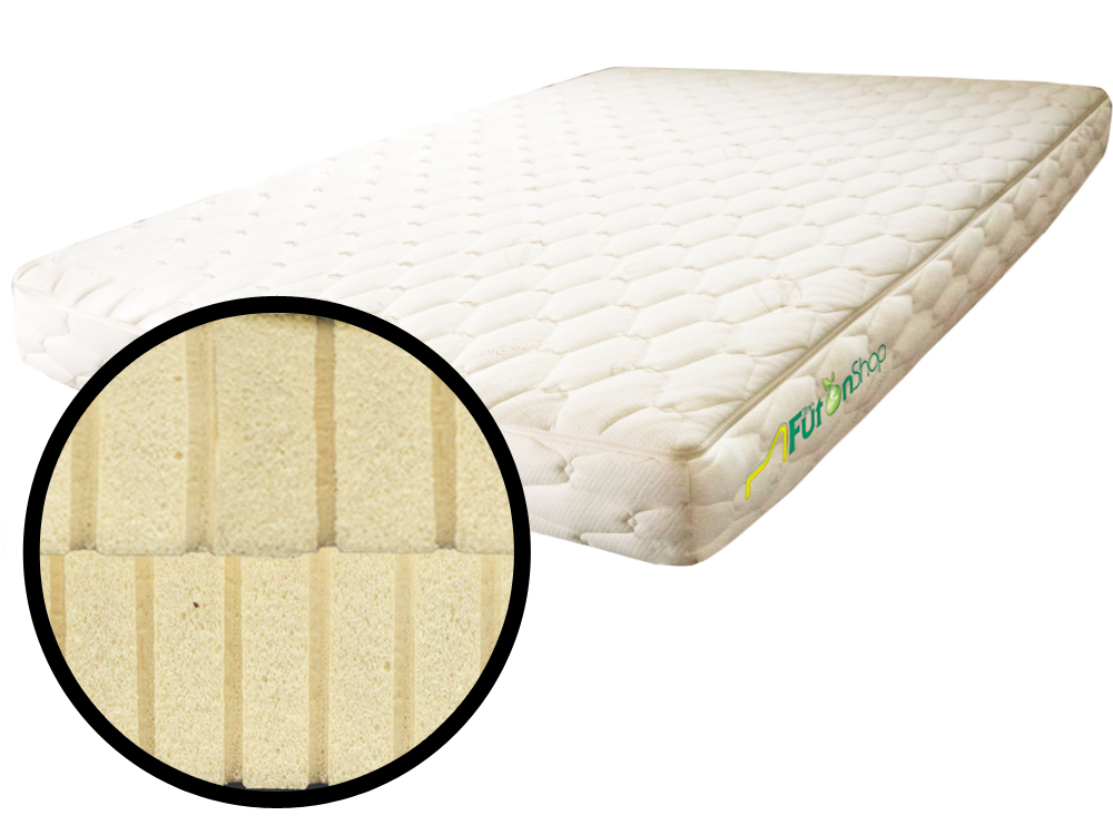 The Futon Shop Twin Organic Latex Mattress With Quilted Cotton Case