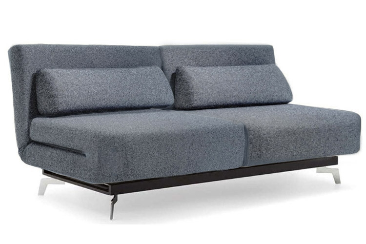 Grey Modern Futon Sofabed Sleeper