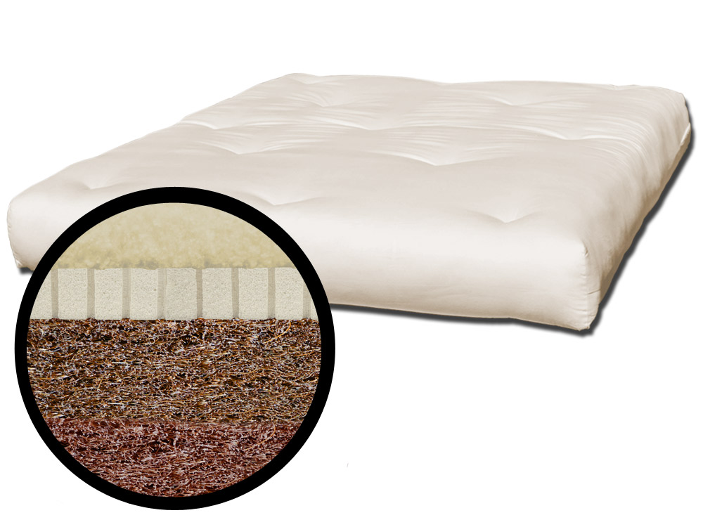 The Futon Shop Chemical Free Wool Coconut Mattress Twin Coco Rest