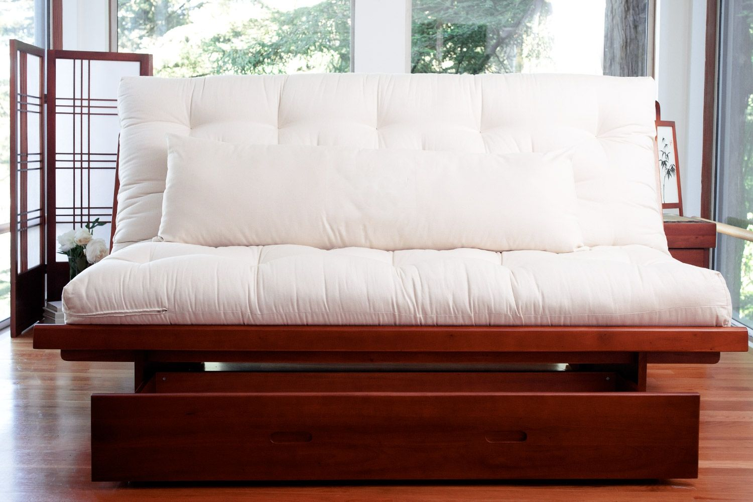 Full Queen Futon Frame Okinawa Wood