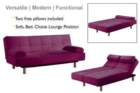 Convertible Futon Sofabed Lounger