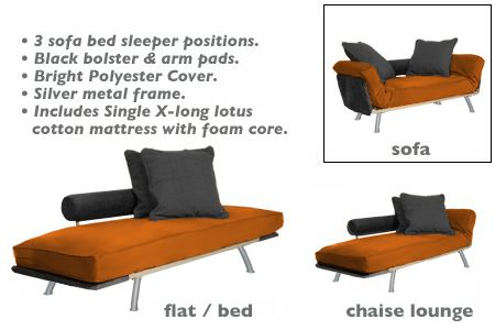 Ely Daybed Chaise Lounger Copper