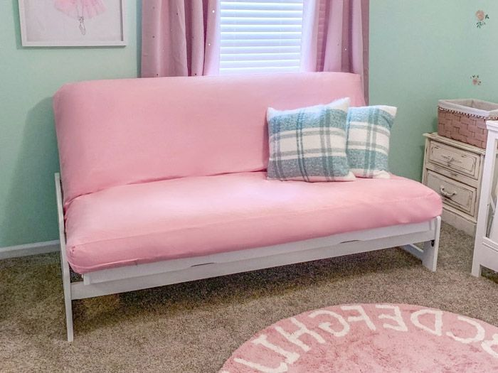 Organic Cotton Futon Cover Pink The