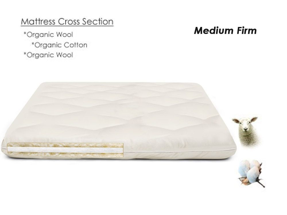 Organic Cotton Mattress Topper Firm