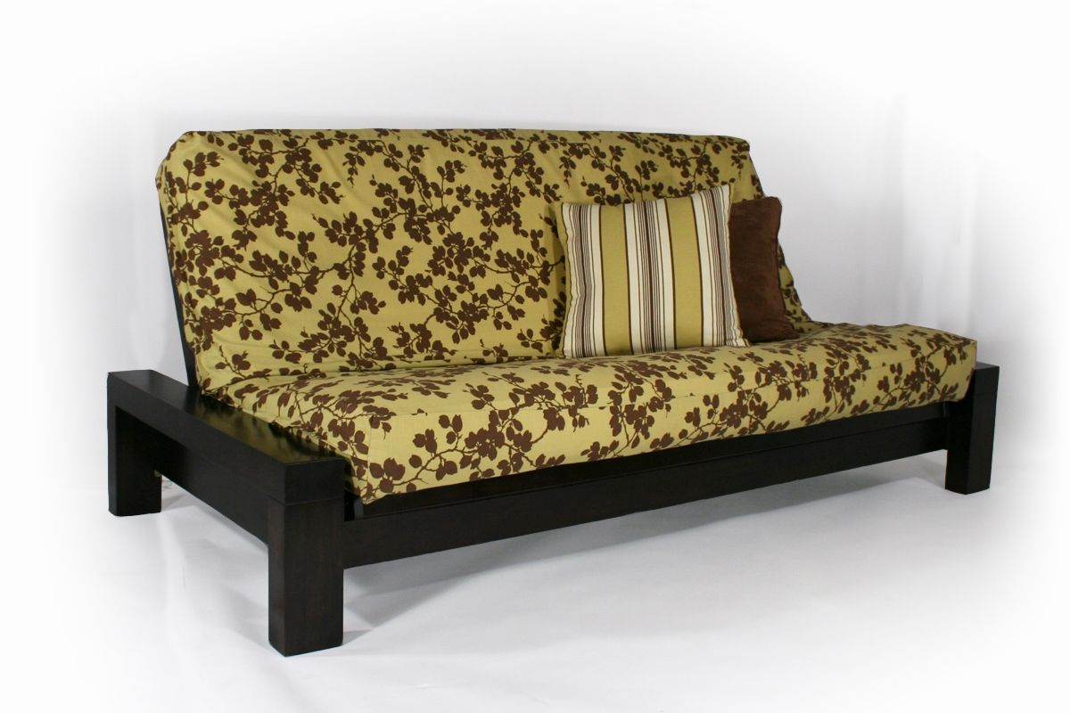 Armless Wallhugger Futon Frame Sofa Bed