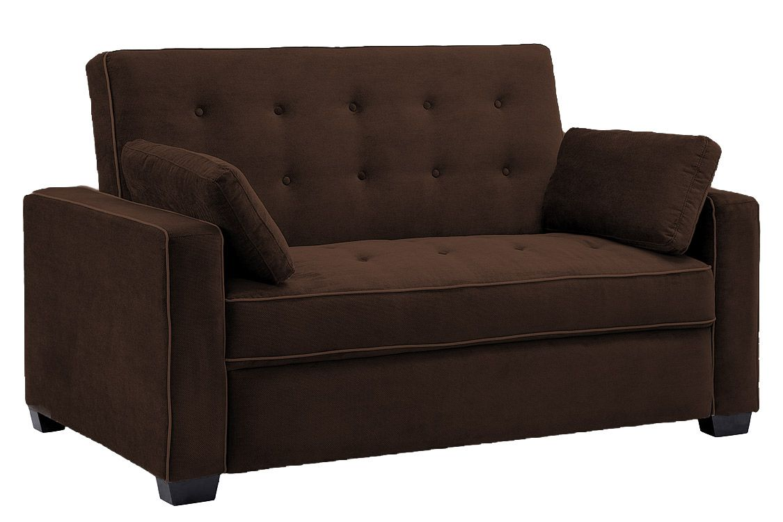 Brown Sofa Bed Futon Couch