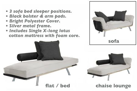 White Daybed Chaise Lounger Ely