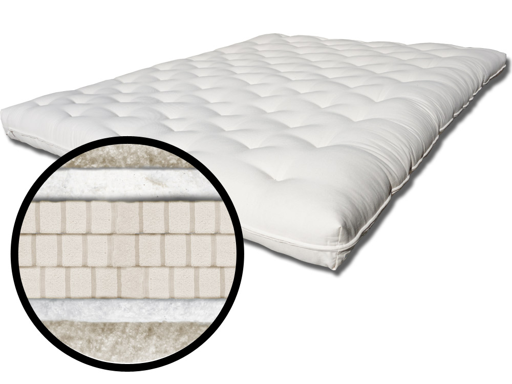 The Futon Shop Dawn Organic Mattress Twin Organic Bed Latex Layer