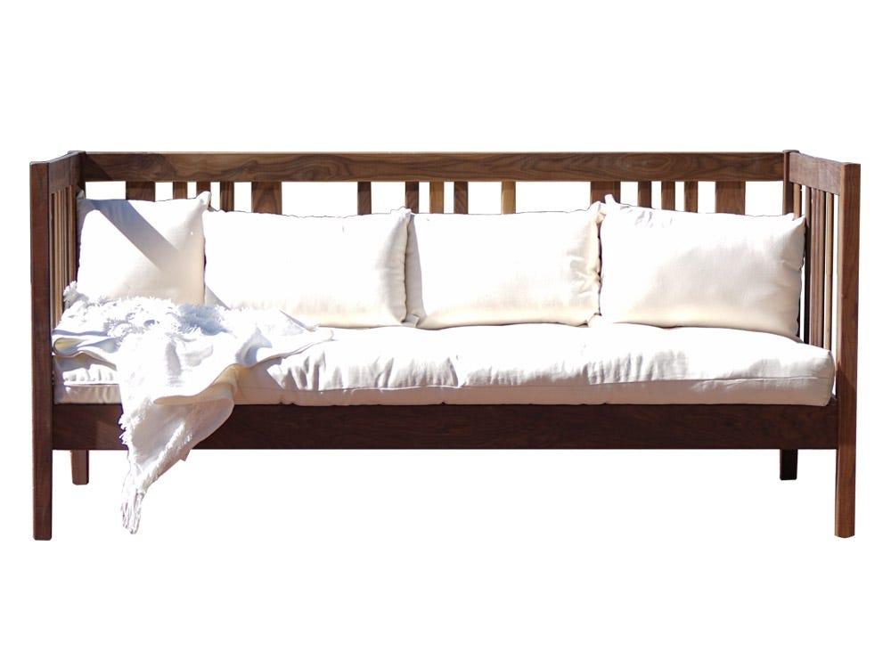 Wood Platform Bed Frame Walnut