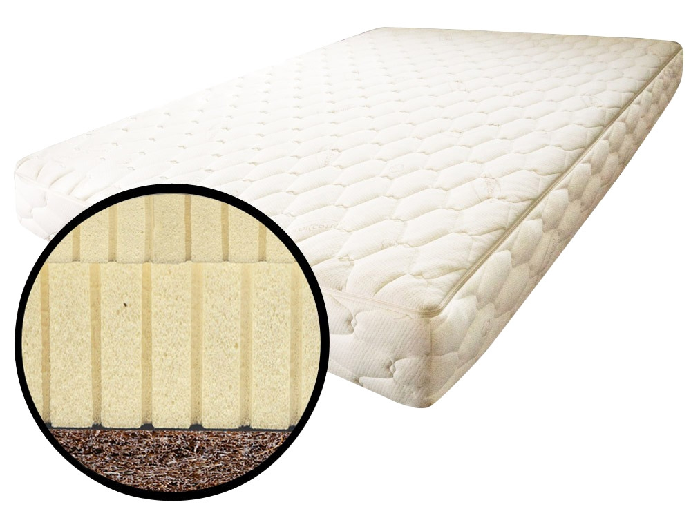 The Futon Shop Twin Latex Mattress Chemical Free Quilted Wool