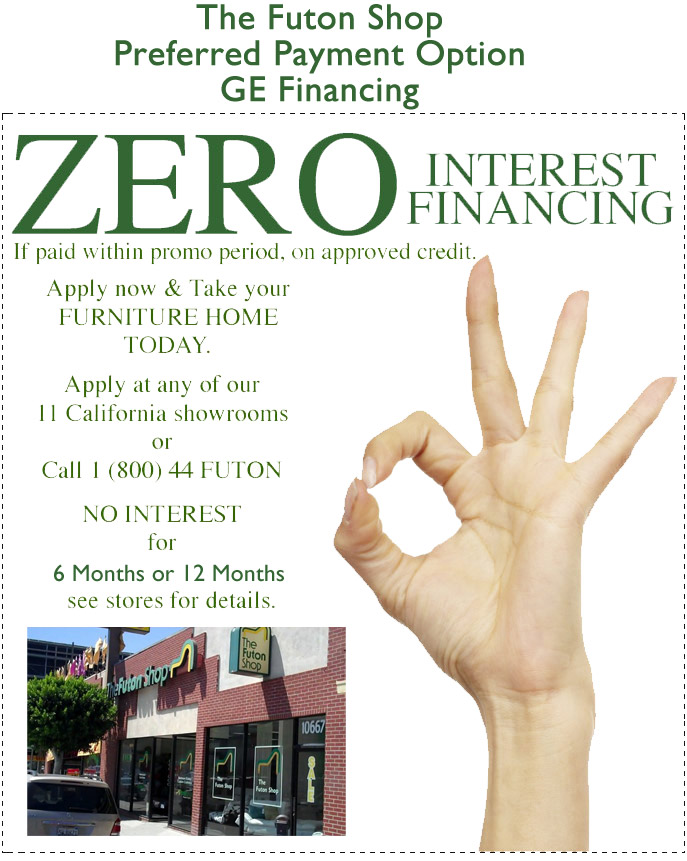 Futons No Interest Financing 90 Days The Futon Shop Zero