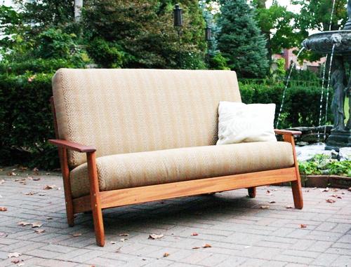 Scandia Outdoor Sofa Futon Black