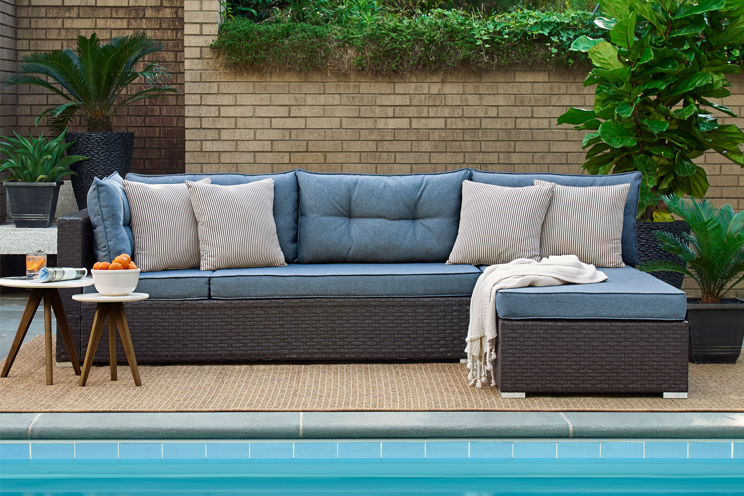 Outdoor Futon Sectional Andronis Blue