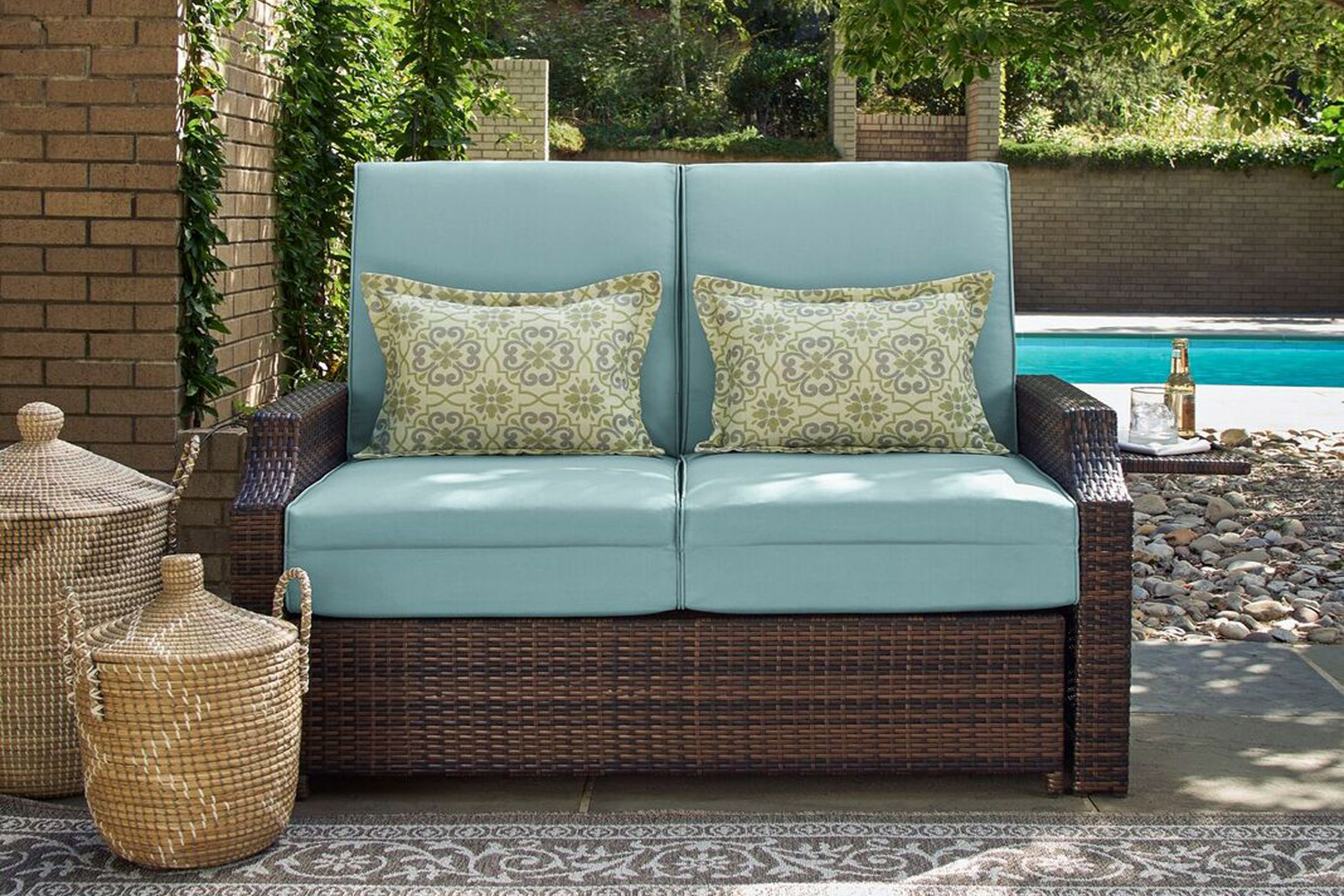 Outdoor Futon Loveseat Sofa Bed Bermuda The Futon Shop