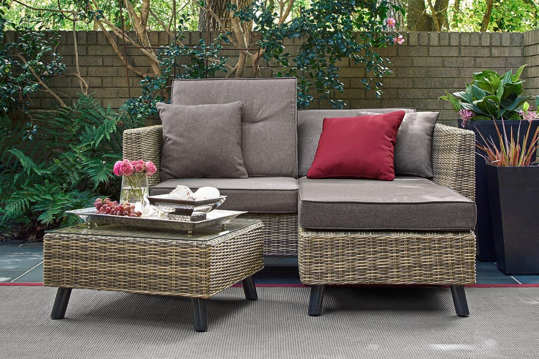 Outdoor Futon Loveseat Monterey Grey