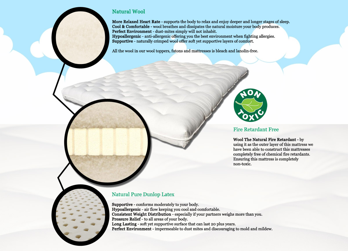 Yanis Traditional Dunlop Latex Pillow : Dunlop Latex Mattress. . Image Is Loading. . Dunlop Latex Mattresses And Toppers. . 12u2033 ...