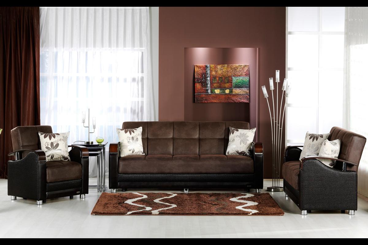Luna Chocolate Ecofriendly Chair Size Sofa Bed Sleeper