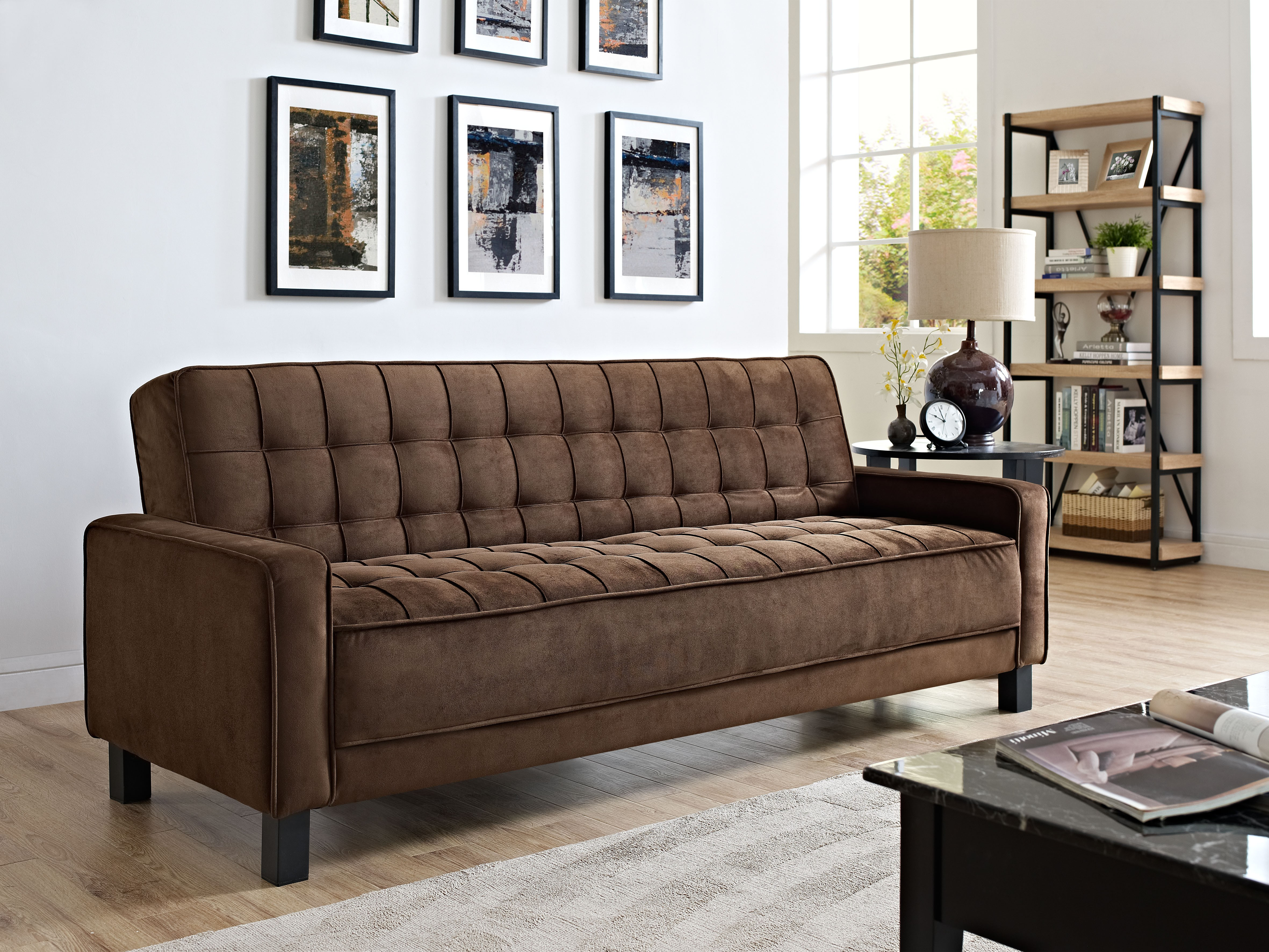 Lifestyle Solutions Convertible Mckinley Black Sofa Bed
