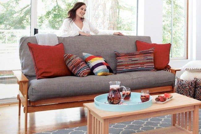 San Mateo Sofa Futon Frame Oak