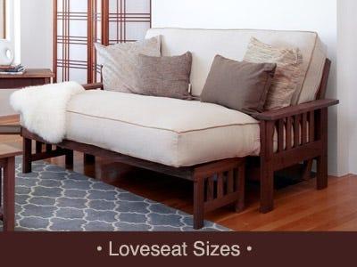 Amish Futon Frame Loveseat size