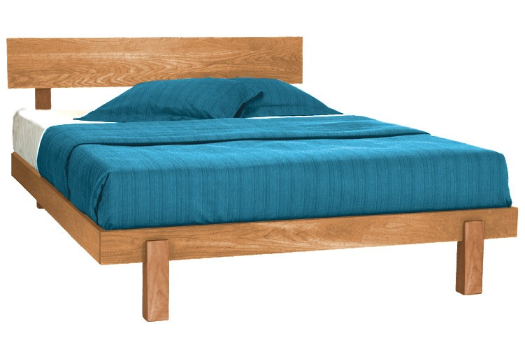 Skyline Natural Cherry Platform Bed