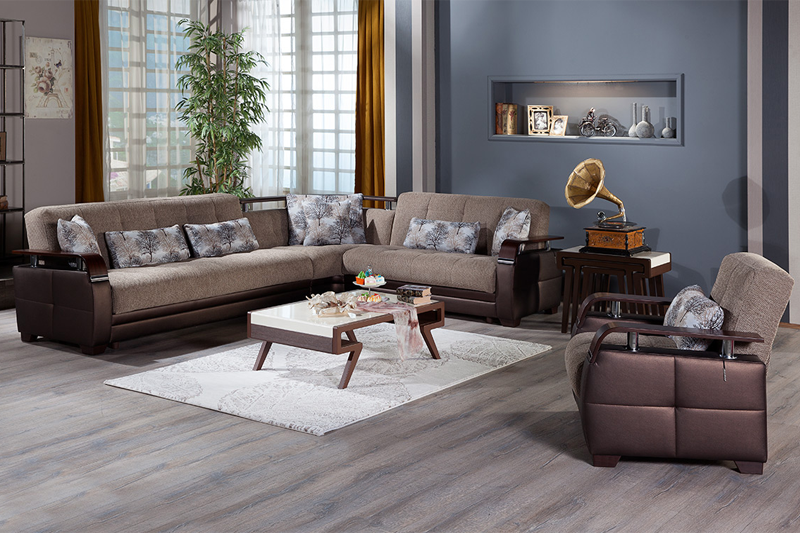 Forest Brown Futon Sofa Sleeper Sectional Sofa Bed