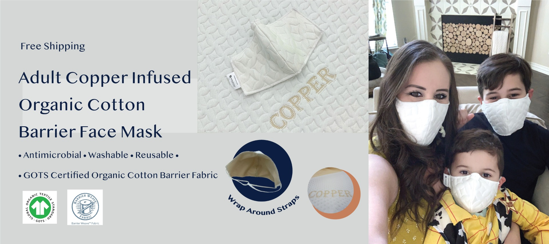 COPPER INFUSED ORGANIC COTTON BARRIER