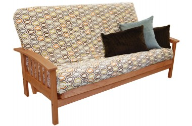 Amish Bent Arm Natural Futon Set