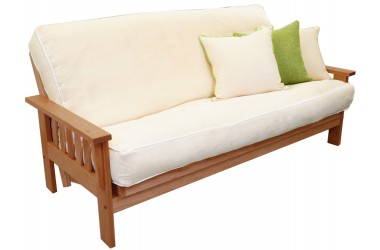 Amish Flat Arm Natural Futon Set
