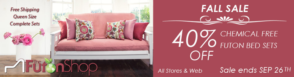 Chemical Free Queen Size Futon Sets