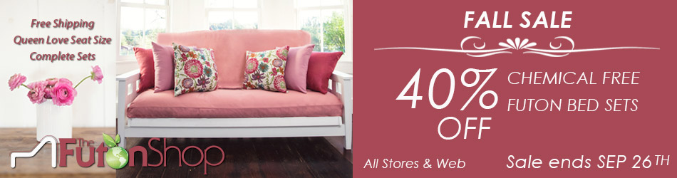 Free Shipping Chemical Free Queen Loveseat Futon Set
