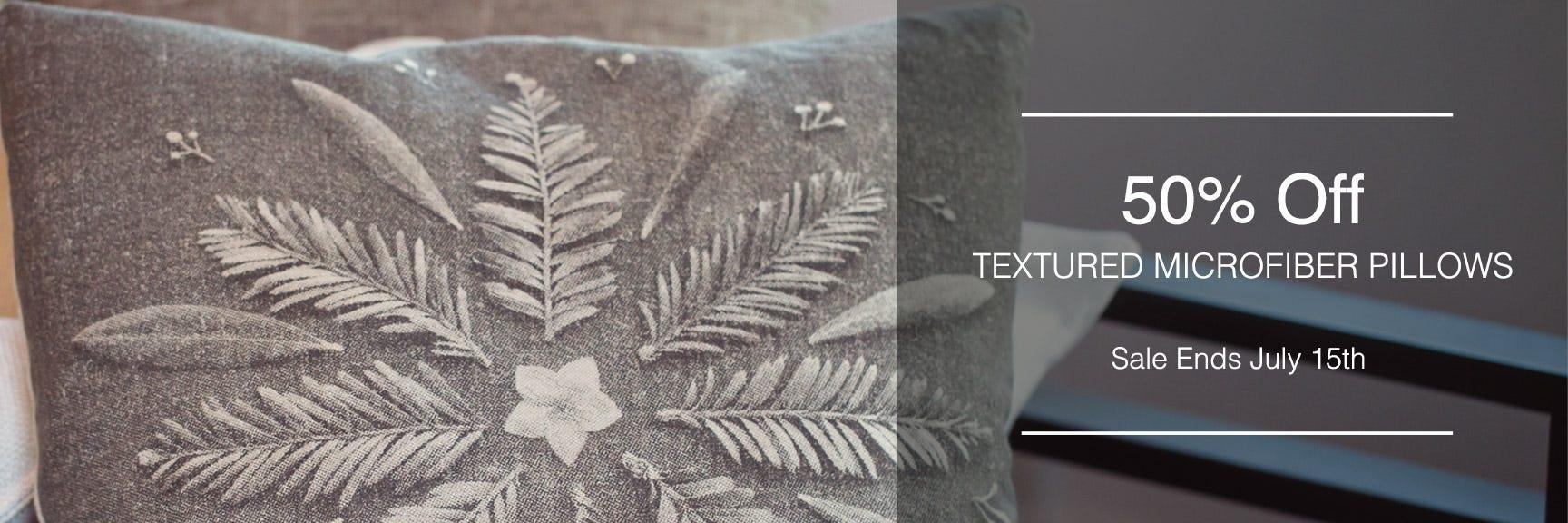 Textured Microfiber Pillows
