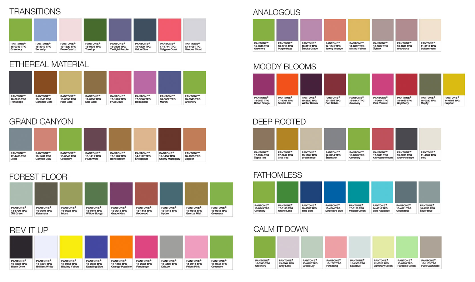 Pantone Color pairing