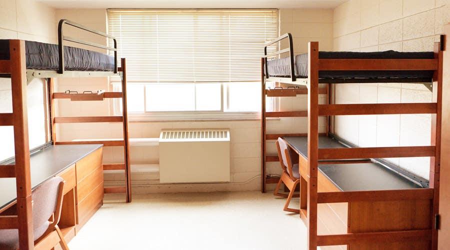 standard dorm bed