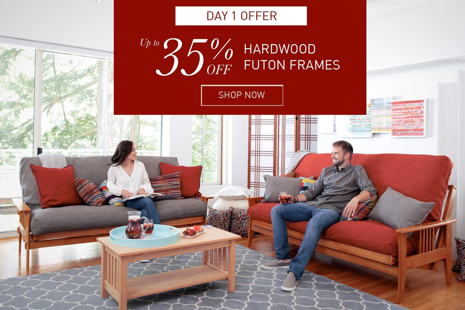 Hardwood futon frames