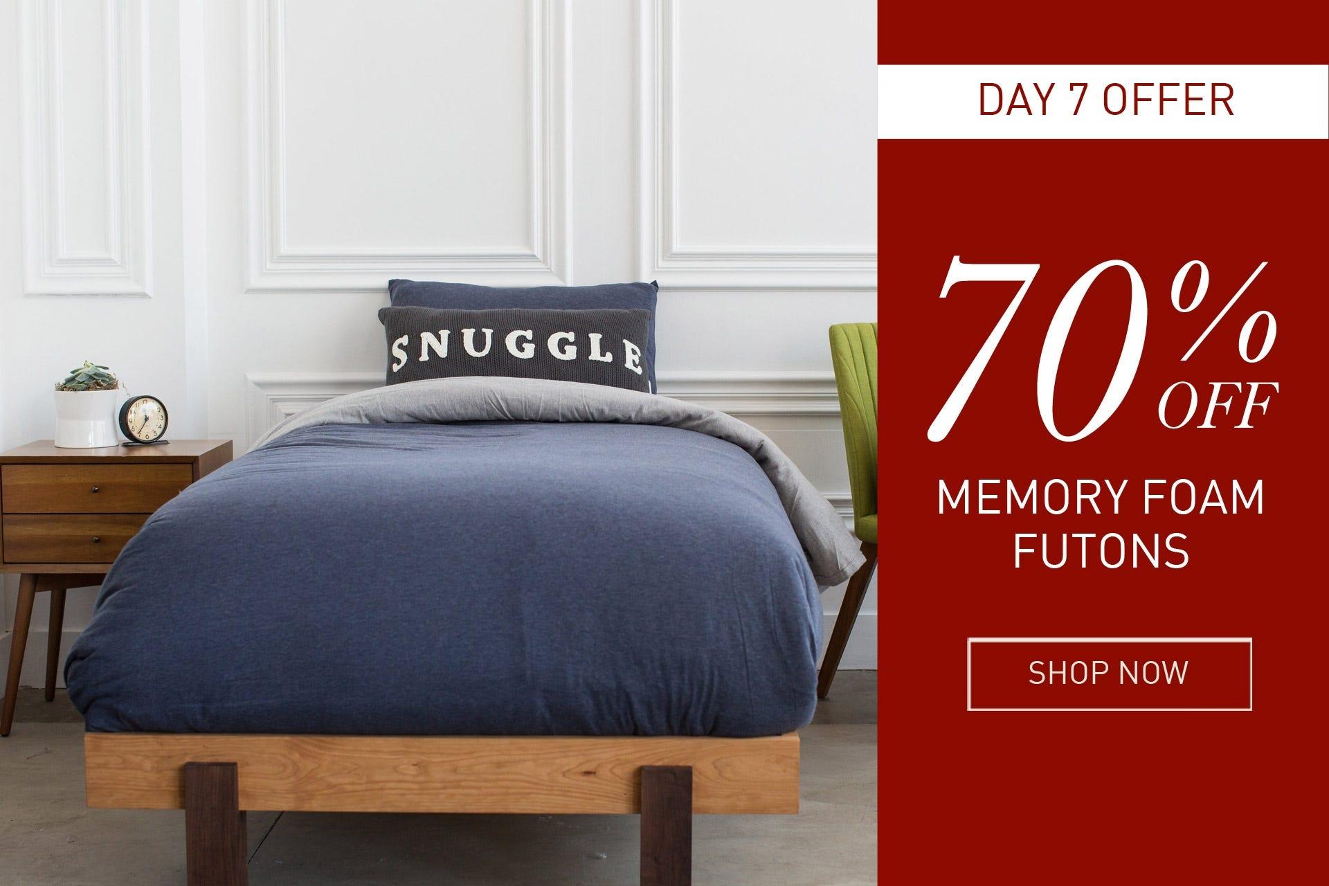 memory foam futons