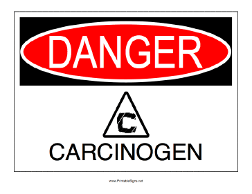 chemicals or off-gassing known carcinogens