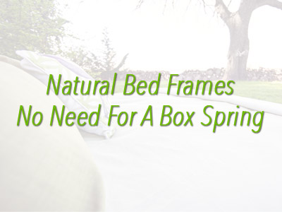 Natural Bed Frames Without The Need For Box Springs