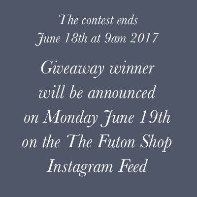 How to enter The Futon Shop Father's day instagram giveaway contest
