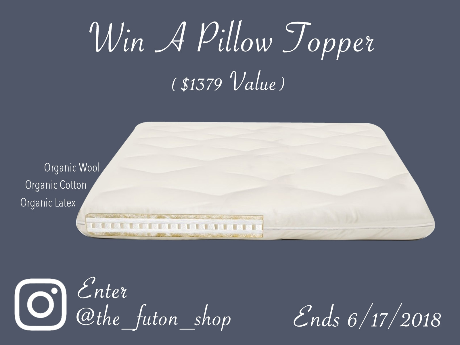 The Futon Shop's Father's Day Free Pillow Topper Wth Organic Ingredients