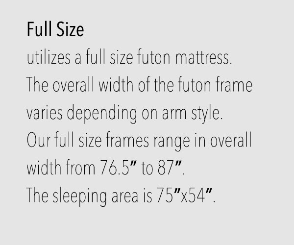 Full Size Futon Frames