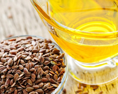 natural oil, such as flaxseed or flaxseed oil