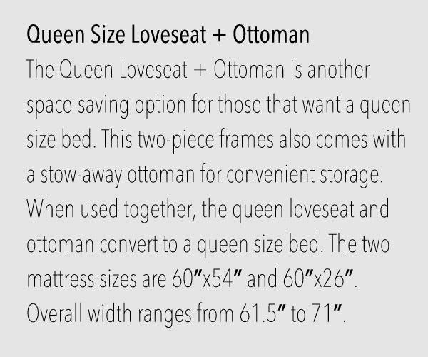 Queen loveseat Size Futon Frames
