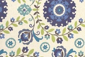 Blue Floral Cotton Futon Slipcover Veronica Cobalt