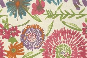Floral Cotton Futon Slipcover Vivian Bouquet