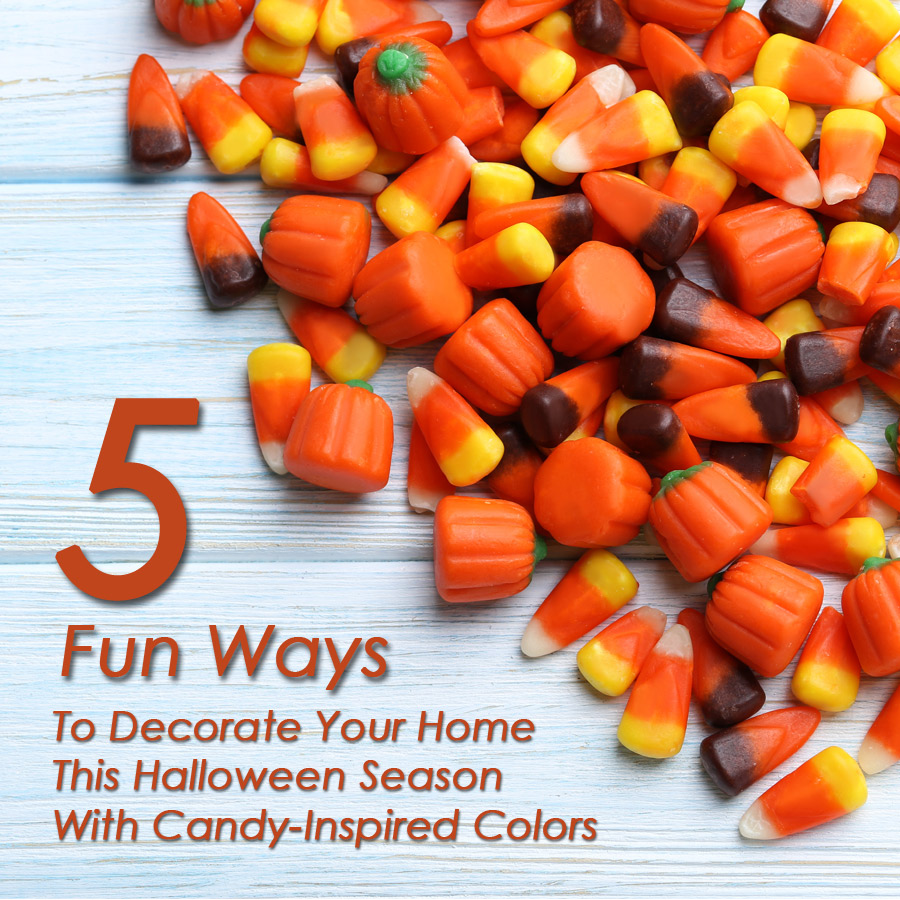 5 Fun Ways To Decorate Your Home This Halloween Season With Candy-Inspired Colors